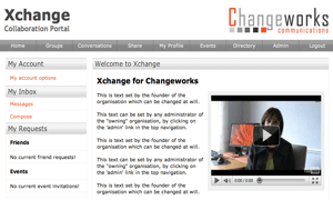 Homepage of Xchange