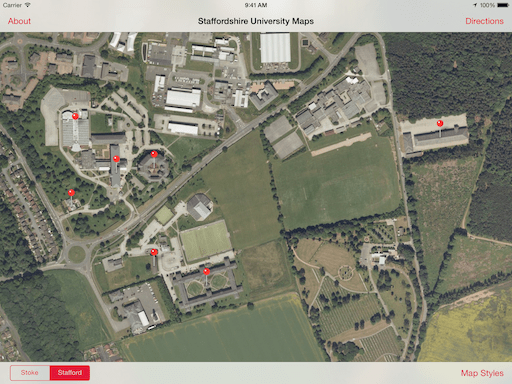 staffordshire university stoke campus map Staffordshire University Maps App Haus staffordshire university stoke campus map
